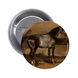 Gray horse rack by Theodore Gericault Button