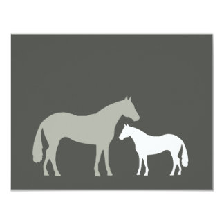 GRAY HORSES Personal Stationery/Notecard Custom Announcement