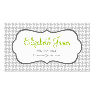 Gray Houndstooth Business Cards