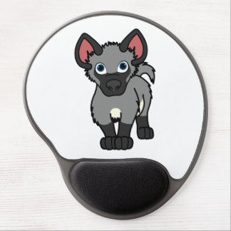 Gray Hyena Cub Gel Mouse Pad