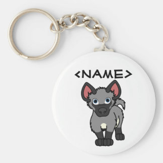 Gray Hyena Cub Keychain