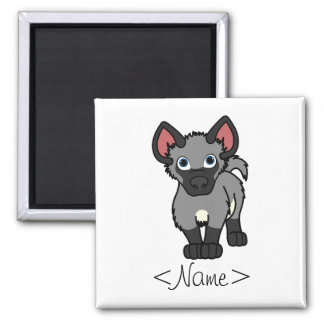 Gray Hyena Cub Magnet