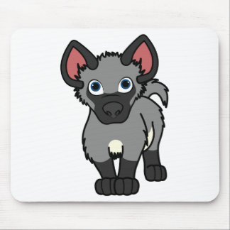 Gray Hyena Cub Mouse Pad