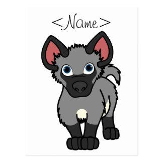 Gray Hyena Cub Postcard