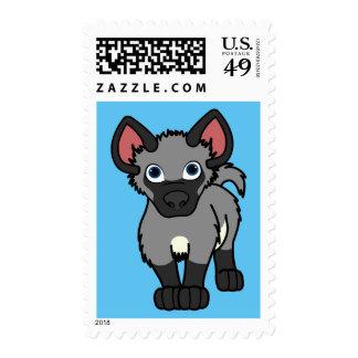 Gray Hyena Pup Stamp