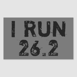 Gray I Run 26.2 Sticker