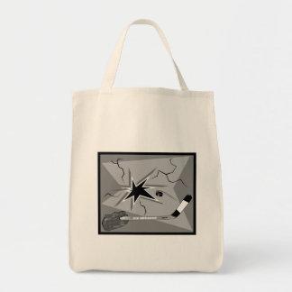 gray ice breaker tote bag