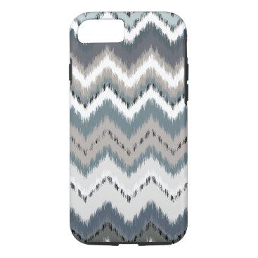 Aztec Themed Gray Ikat Chevron iPhone 8/7 Case