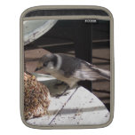 Gray Jay and Bell Vertical iPad Sleeve