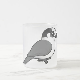 Gray Jay Frosted Glass Coffee Mug