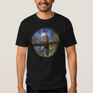 Gray Jay On A Branch Tees