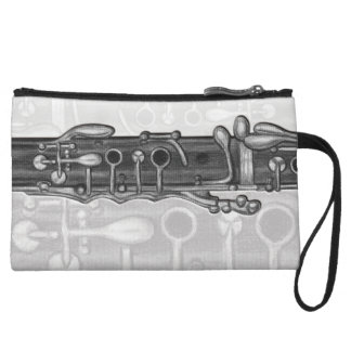 Gray Jazzy Clarinet Mini Clutch