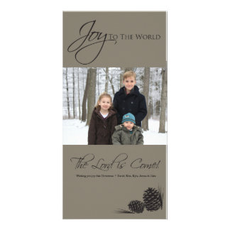 Gray Joy to the World Photocard Card