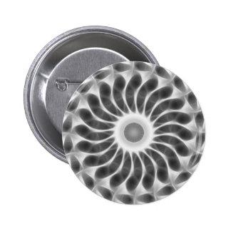 Gray Kaleidoscope Art 29 Pinback Buttons