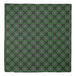 Gray kaleidoscope ornament duvet cover