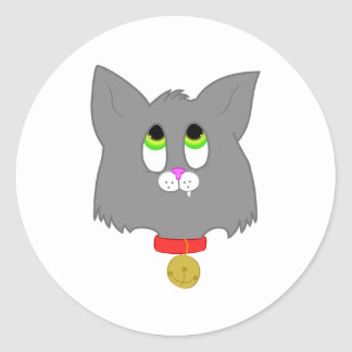 Gray Kitten Classic Round Sticker