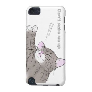 Gray kitten which dozes iPod touch 5G cover