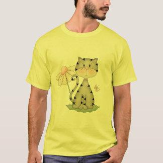 Gray Kitty w/ Flower T-Shirt