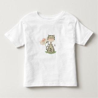 Gray Kitty w/ Flower Toddler T-shirt