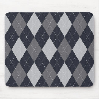 Gray Knitted Style Argyle Mousepad Mouse Pad