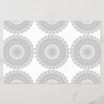 Gray Lace Design Pattern.