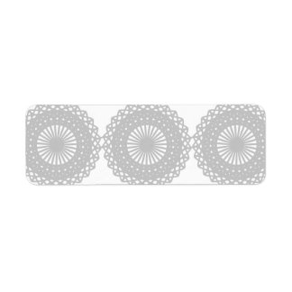 Gray Lace Design Pattern. Custom Return Address Label