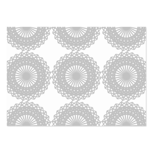 Gray Lace Design Pattern. Large Business Card