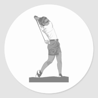 Gray Ladies Gold Logo Classic Round Sticker