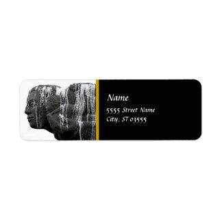 Gray Lady Return Address Label 5
