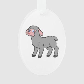 Gray Lamb Ornament