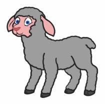 Gray Lamb Statuette