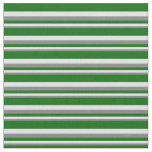 [ Thumbnail: Gray, Lavender, and Dark Green Colored Stripes Fabric ]