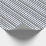 [ Thumbnail: Gray & Lavender Lines Pattern Wrapping Paper ]