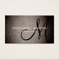 Gray Leather Business Card at Zazzle