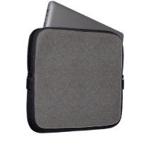 Gray Leather-look Electronics Laptop Sleeve