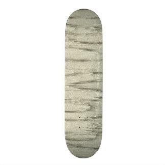 Gray Leather Look Skateboard Deck