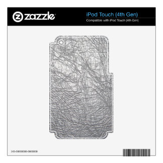 gray leather texture ipod skin