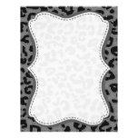 Gray Leopard Animal Print Customized Letterhead