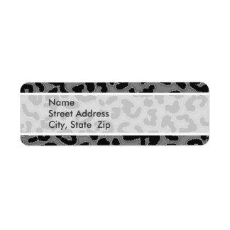 Gray Leopard Animal Print Custom Return Address Label