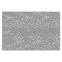Gray Leopard Animal Print Tissue Paper
