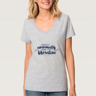 Gray Liberation V-Neck T-shirt