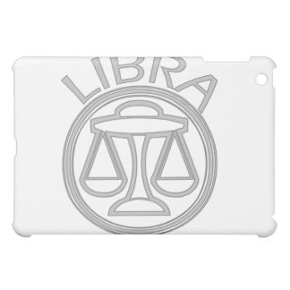 Gray Libra the Scales Horoscope Sign  Cover For The iPad Mini