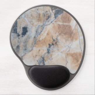Gray & Light Beige Marble Texture Gel Mouse Pad