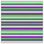 [ Thumbnail: Gray, Light Green, Black, Dark Violet & Light Cyan Fabric ]