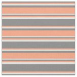 [ Thumbnail: Gray, Light Salmon, and Light Yellow Lines Fabric ]