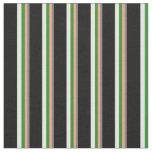 [ Thumbnail: Gray, Light Salmon, Green, Mint Cream & Black Fabric ]
