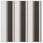 [ Thumbnail: Gray, Light Salmon, Lavender, Black & Slate Gray Fabric ]