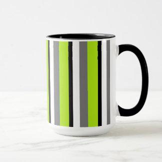 Gray Lime Black White Mug