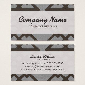 Gray Lines Pattern Elegant Professional Business Card by RainbowChild_Art at Zazzle