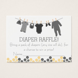 Gray Little Clothes Diaper Raffle Tickets